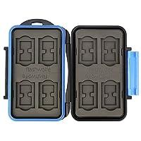 Flashwoife Turtle-SD8MSD16 spritzwasserdichte Speicherkarten Schutzbox, patentierte Aufnahme, 8 Stück SDHC und 16 Stück MicroSD Cards Case, schwarz