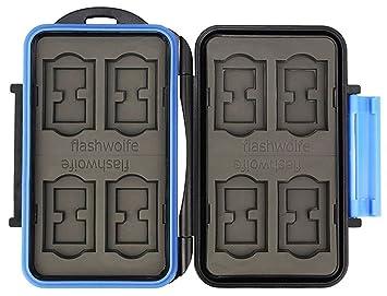 Flashwoife Turtle-SD8MSD16 Estuche para tarjetas de memoria espacio suficiente para hasta 8 tarjetas SD y 16 tarjetas microSD memory card storage box