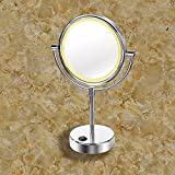 Beauty mirror makeup/shaving mirrors bathroom mirrors dressing table mirror dressing table mirror desktop double-sided mirror 8-inch shaving mirror