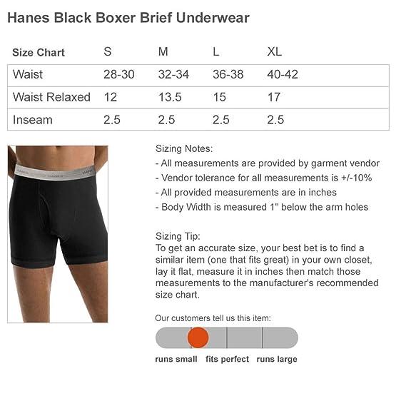 Love You Bunches Hanes Black Boxer Brief Underwear