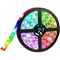 ELEAD Smart Bluetooth LED Strip Light 5 Meters 300 LEDs 5050 RGB Remote Control Decoration Lights Colorful TV Backlight Rope Lighting Sync to Music for Home Kitchen Bedroom Desktop Hotel Outdoor