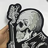 Gun Man Large Biker Motorcycle Back Patches for
