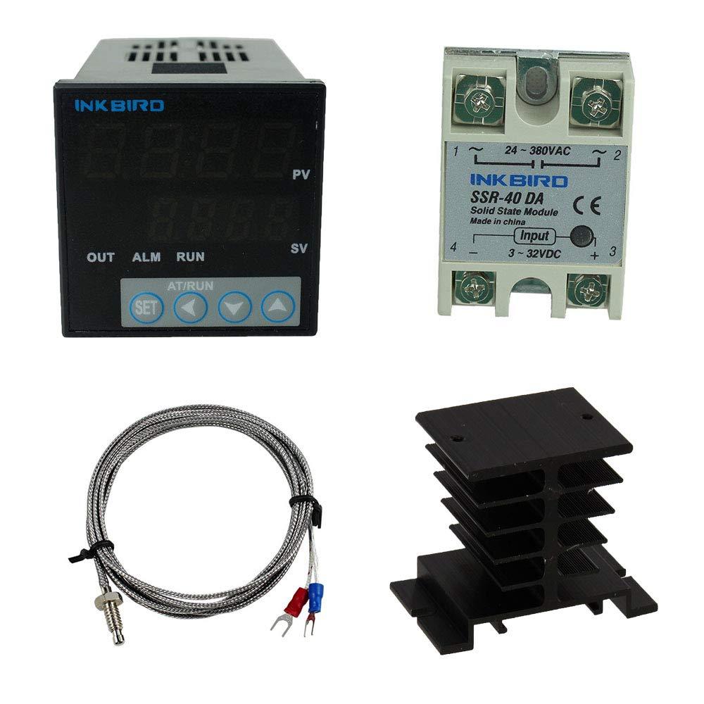 INKBIRD Digital Thermostat PID Temperature Controller K sensor SSR 240v 220V  UK
