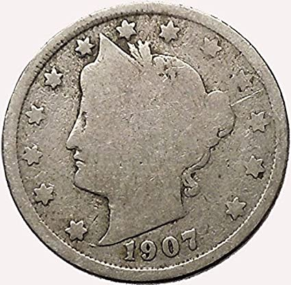 V Nickel United States Currency V-Nickel Liberty Head Nickel 5 Cent Piece Old Money Coin Collection Authentic V Nickel Old Coins