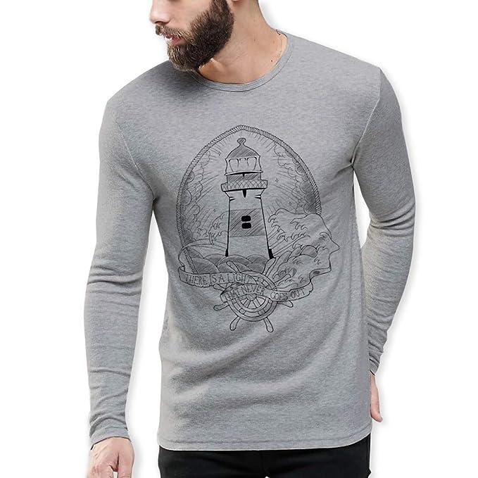 VIENTO Lighthouse Herren T-Shirt Mit Langen Ärmeln  Amazon.de ... 8f0354b95b