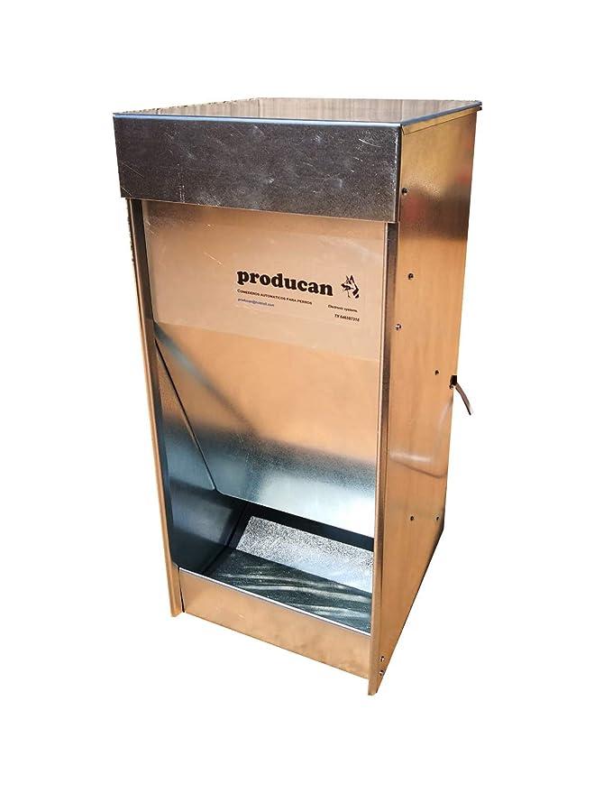 Comedero automático profesional programable de 35 litros de capacidad. Válido para exterior.: Amazon.es: Productos para mascotas