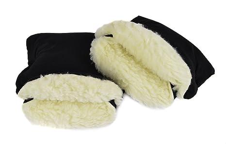 Muff para manos Muff con cálido gruesa impermeable anticongelante paseo guantes Cochecito de bebé mano muff
