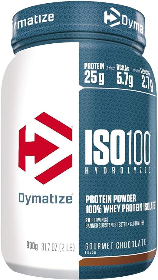 Dymatize ISO 100 Gourmet Chocolate 900g - Hidrolizado de Proteína de Suero Whey + Aislado en Polvo