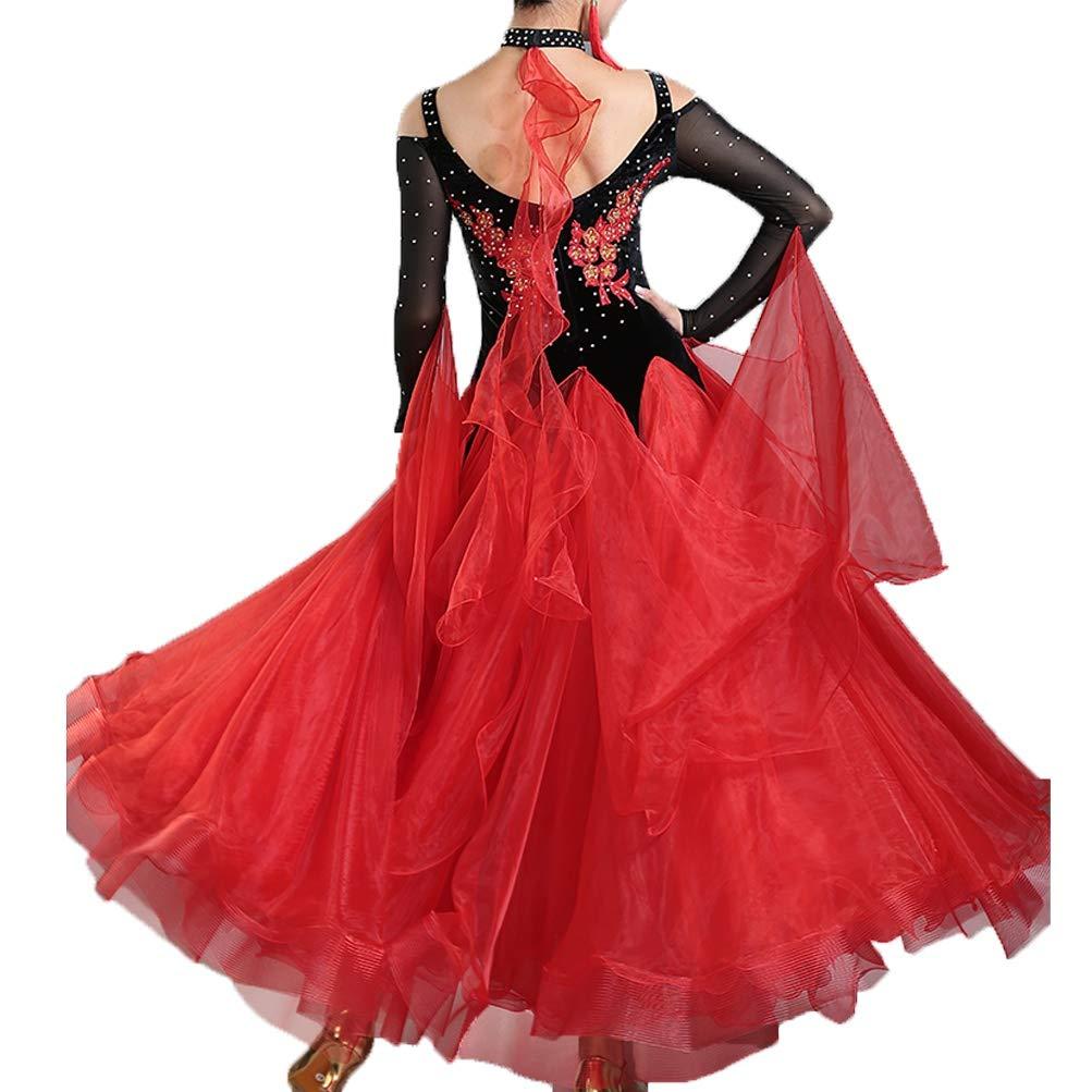 Frauen Modern Walzer Walzer Walzer Tango Smooth Ballsaal Tanzn Kleid Standard Ballroom Wettbewerb Kleider großen Schwung B07HR99CR6 Bekleidung Adoptieren b92d67