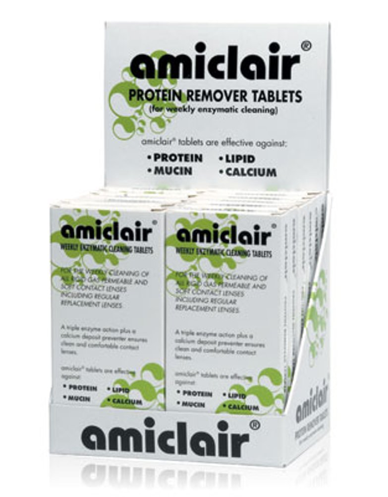 Amiclair Weekly Enzymatic Protein Remover Contact Lens Cleaning Tablets (Refill Pack 24 Tablets) Abatron Limited TRTAZ11A