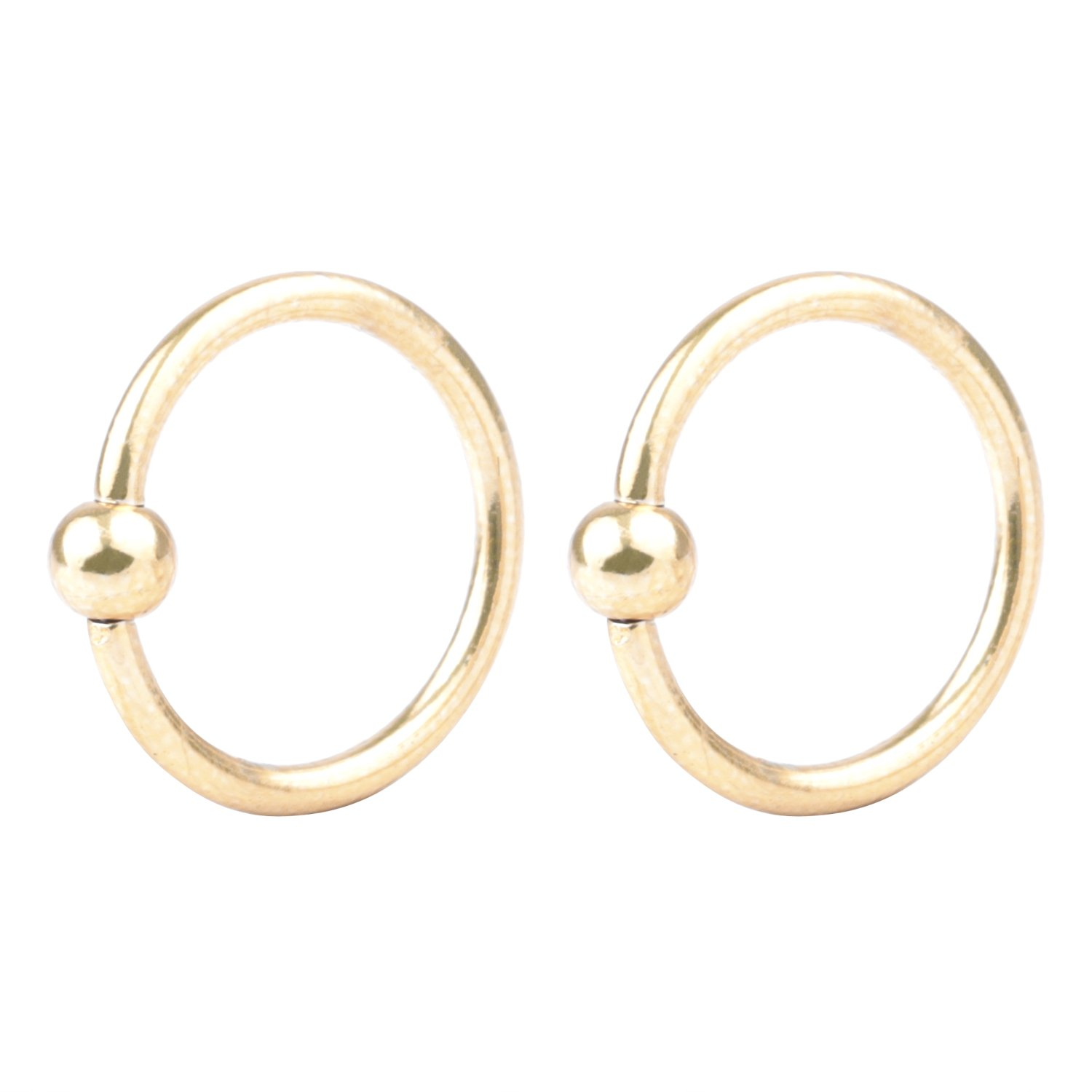 16G Surgical Stainless Captive Bead Ring CBR Hoop Helix Tragus Ear Lobe Earring Nose Ring 3mm Ball 6mm