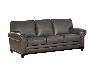Amazon.com: Coja por sofa4life Lakehurst sofá de piel, color ...