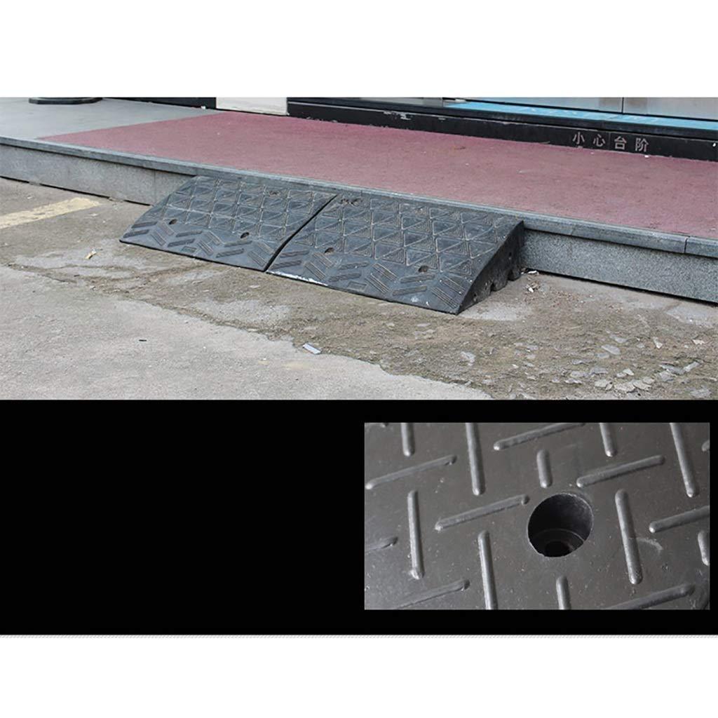 Radassistenzrampe DJSMxpd Rampen Hochleistungs-Gummi-Bordsteinrampen Bordsteinrampen Rollstuhlschwellenrampe L49.5 * W24.8 * H12cm