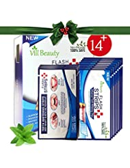 28 Teeth Whitening Strips- 3D White Strips Much Better than Teeth Whitening Powder and Teeth Whitening kits, Professional and Best Whitestrips, Non-Peroxide 100% Safe [2018 UPGRADED]