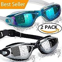ALLPAIPAI Swimming Goggles Swim Goggles, Pack of 2...