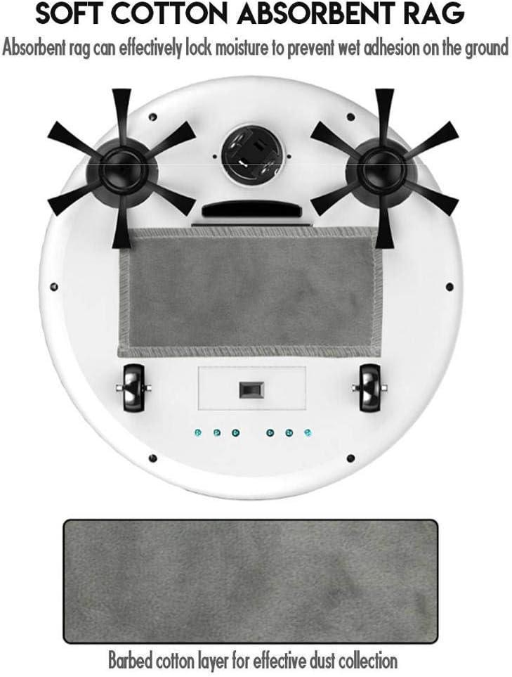 DWDADYYY Robot aspirateur Intelligent 4 en 1 Intelligent entièrement Automatique 3200pa Robot de Balayage de Chargement USB vadrouille Humide et sèche White Pink