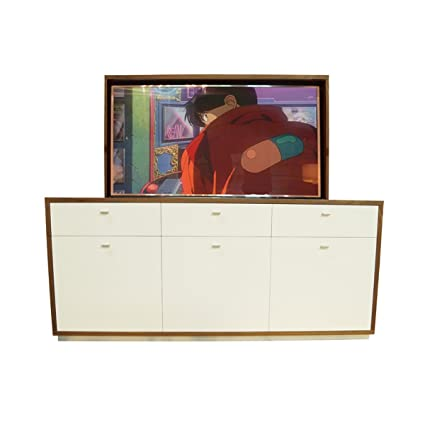 amazon com american tv lift cabinet handcrafted modern latte tv