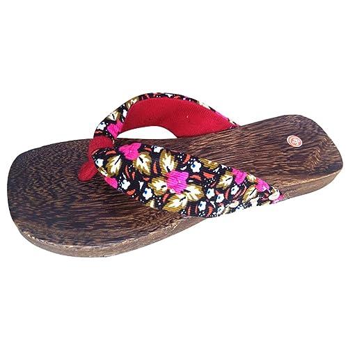 Highdas Mädchen der Frauen Holzschuh Flip Flops Schuhe H3 230 kz6DEAzW