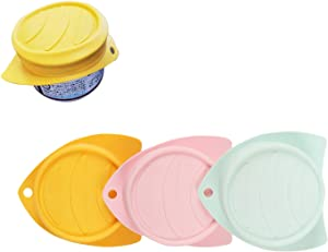 xinXbabe Pet Can Lids Covers Silicone【Food Grade Silicone Set of 3 Colors Fits Multiple Sizes for Dog and Cat Can】 Airtight Top Can Lids Pack of 3