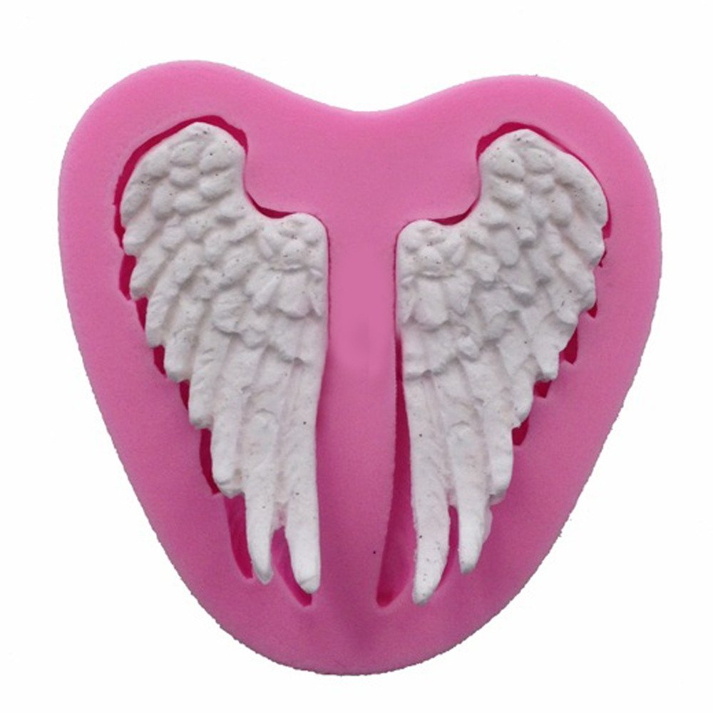 New Design!!Pop Sales!!Molyveva Silicone 3D Angel Wing Shape Cake Chocolate Mold Mould Modelling Decorating Tool