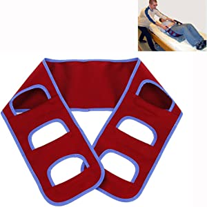 Transfer Board Patient Lift Slide Transfer Belt Medical Lifting Sling Transferring Sliding Mobility Assistance Devices Nursing Gait Belt - Bed to Wheelchair/Chair (Red)