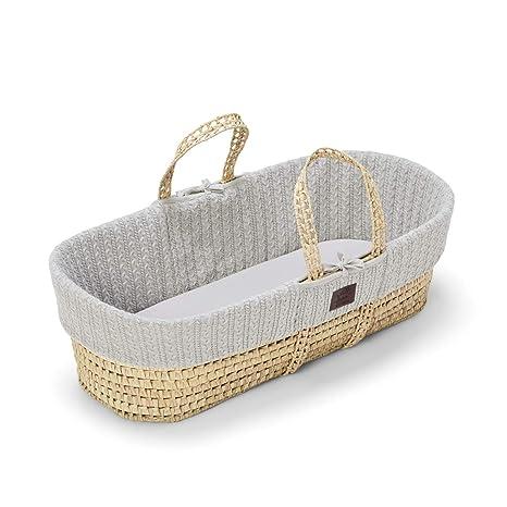 The Little Green Sheep - Cesta y colchón de punto natural para moisés, diseño de oveja: Amazon.es: Bebé