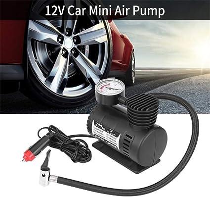 Portable Auto Mini Compresor De Aire Eléctrico, 12V 300PSI Kit Para La Bola De Bicicletas Minicar Neumático Del Coche Bomba Accesorios: Amazon.es: Coche y moto