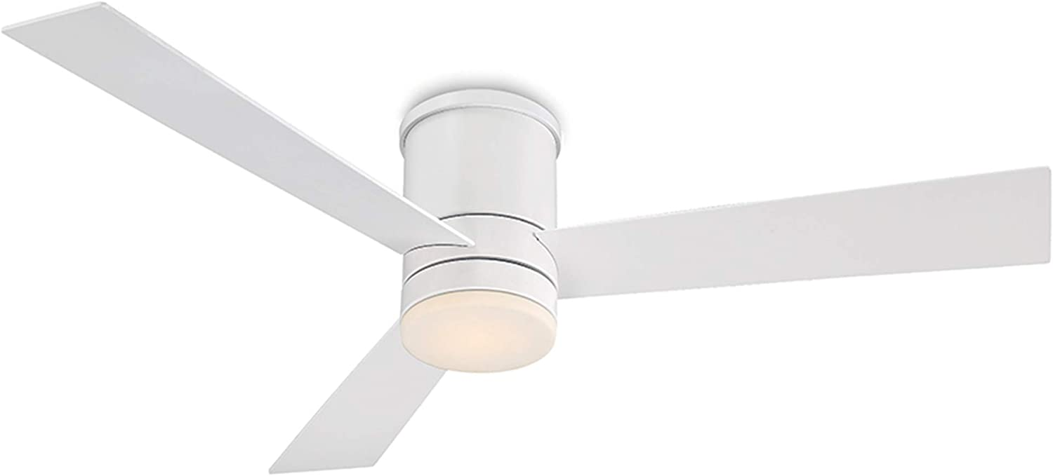 Modern Forms Fh W1803 52l Mw Contemporary Modern 52 Ceiling Fan From Axis Collection Finish 52in Blade Span Matte White