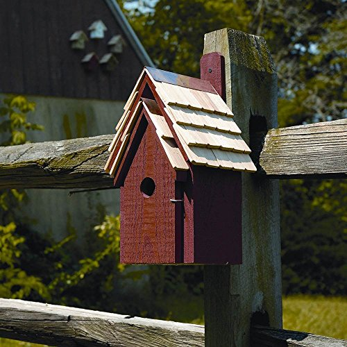 Bluebird Manor Bird House in Redwood (Redwood Cypress Birdhouse)