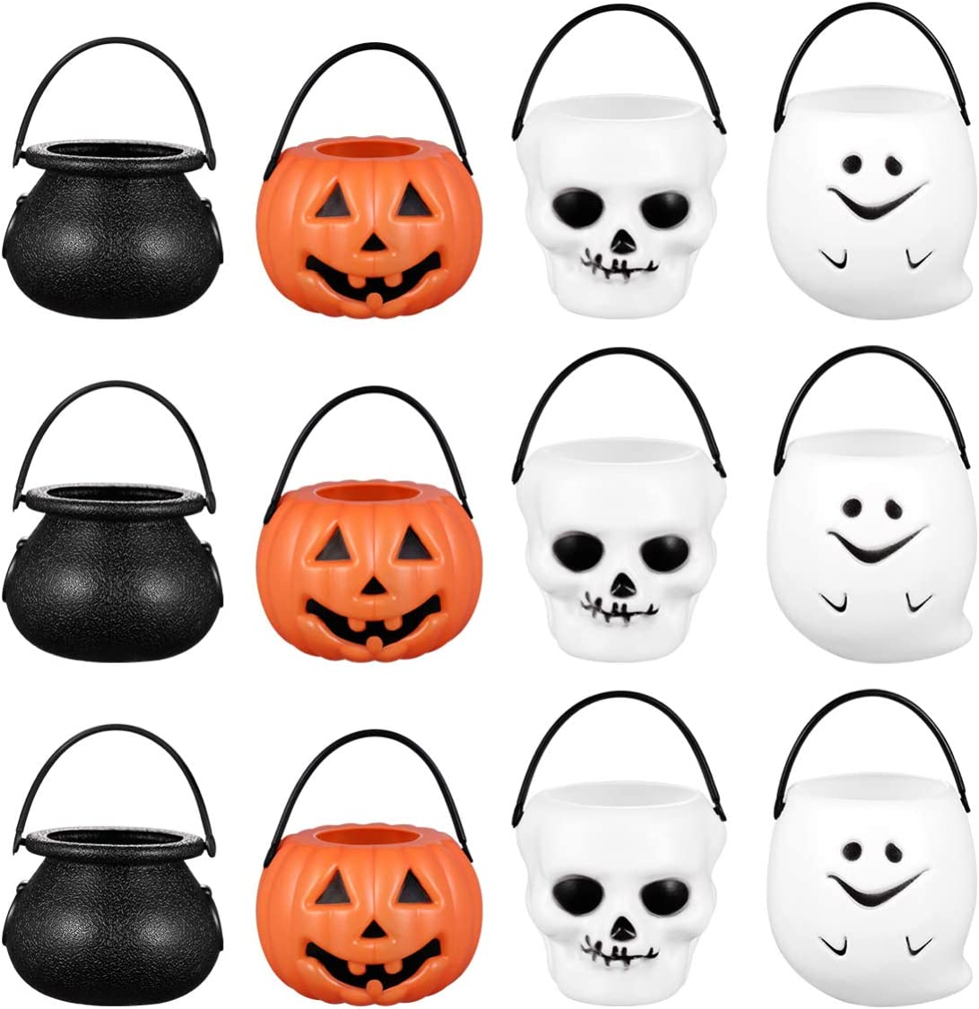 Halloween Candy Bowl Holder Durable Halloween Cookies Snacks Party Favors Decor for Halloween Party 12pcs