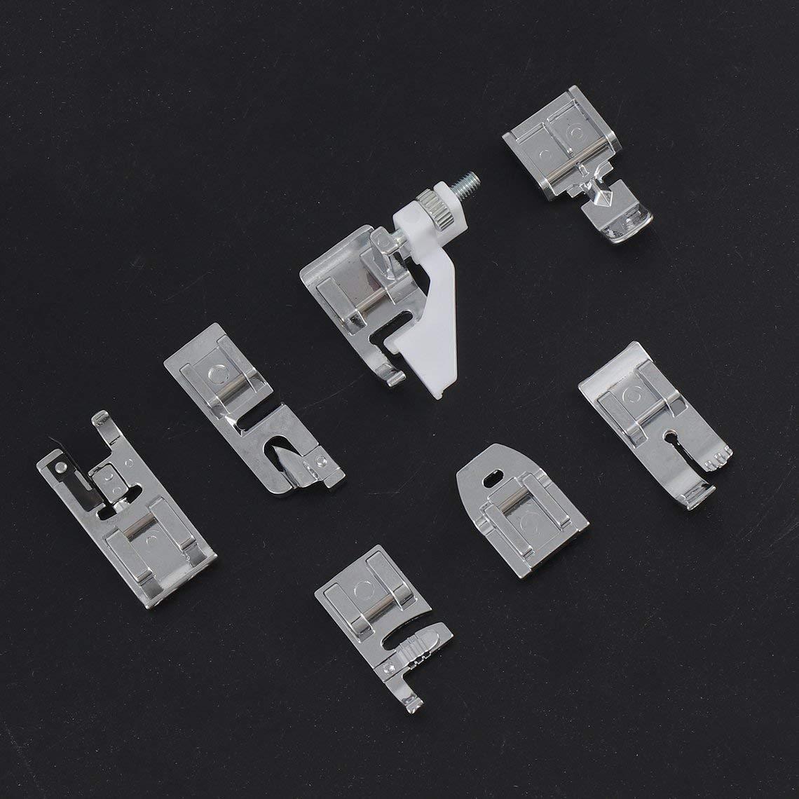 Zinniaya 11 unids//set M/áquina de coser multifuncional Pies Prensatelas Repuestos Accesorios Herramientas para el hogar Juego de prensatelas universal