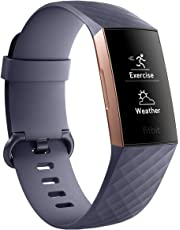 Fitbit FB410RGGY-CJK Charge 3 Rose Gold/Blue Grey, Rose Gold/Blue Grey