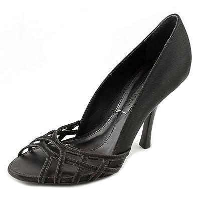 4603fe092b1 Amazon.com: BCBG Max Azria Kacie Peep-Toe Canvas Heels: Shoes