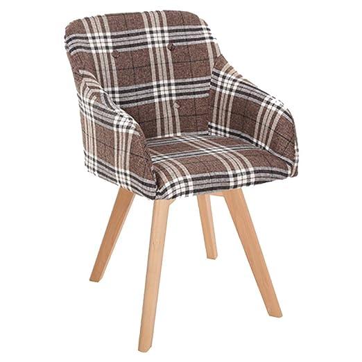 ALY Silla Nordic Home Sillones Diseño ergonómico Tejido de ...