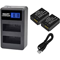 LP-E10 Battery and Charger Turpow Replacement Battery and LCD Display Dual Battery Charger Compatible with LP-E10 1600mAh Battery for EOS Rebel T3 T5 T6 T7 Kiss X50 Kiss X70 EOS 1100D EOS 1200D EOS 1300D Digital Camera
