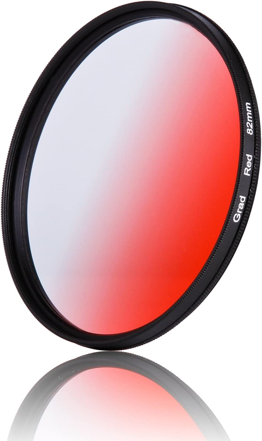1pcs 37mm 40.5mm 43mm 46mm 49mm 52mm 55mm 58mm 62mm 67mm 72mm 77mm 82mm Graduated Orange Gradual Color Lens Filter Protector 49mm