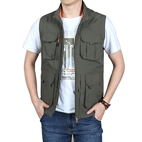 Amazon.com: Golf Jackets Vest Mens Pilot Summer Thin ...