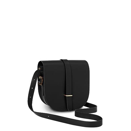 1cfaeaf3b The Cambridge Satchel Company - Vintage Leather Cross Body Saddle Bag -  Branded Brass Hardware (