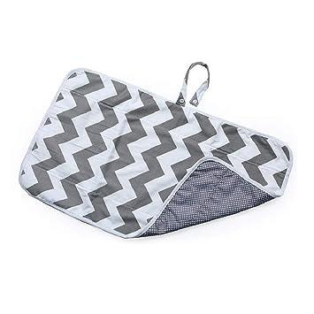 Grey Silveroneuk Portable Baby Foldable Waterproof Diaper Nappy Change Mat Travel Pad