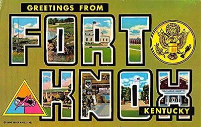 Fort Knox Kentucky Large Letter Greeting Vintage Postcard K56706
