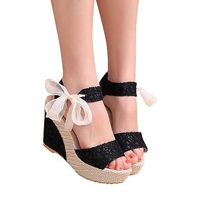 6fb172dcdc7 RAISINGTOP Women Ladies Fashion Summer Arch Support Platform Sandals Wedges  Loafers Shoes 3 inch high Heels