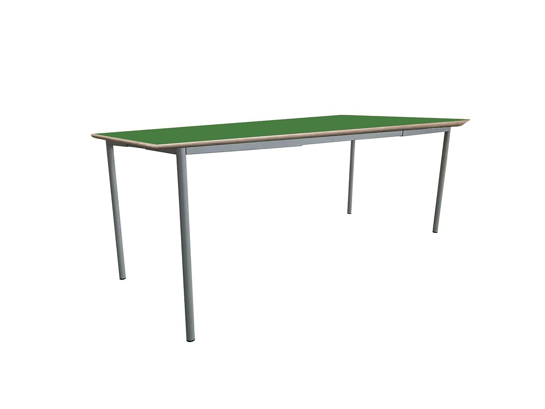 Mobeduc niños de la Mesa de Cuadrado Extensible, Madera, Color Verde Oscuro, tamaño 1, 120 x 60 x 46 cm