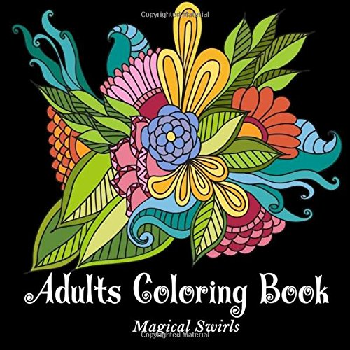 Adults Coloring Book: Magical Amazing Paisley Swirls Landscape Relaxation Stress Relief Perfect Gift