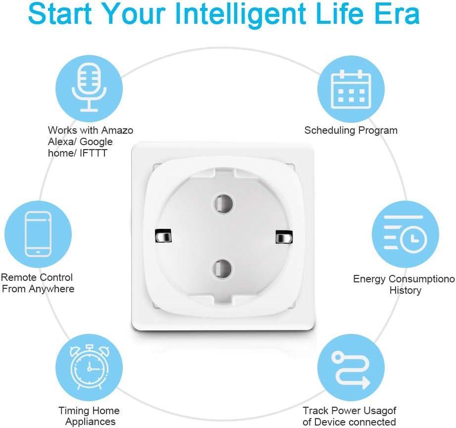 Enchufe Inteligente Wifi Compatible con Alexa Echo,Google Home y ...