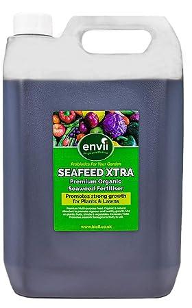 Envii Seafeed Xtra – Abono/Fertilizante y Potenciador de Crecimiento Orgánico Premium de Algas Marinas