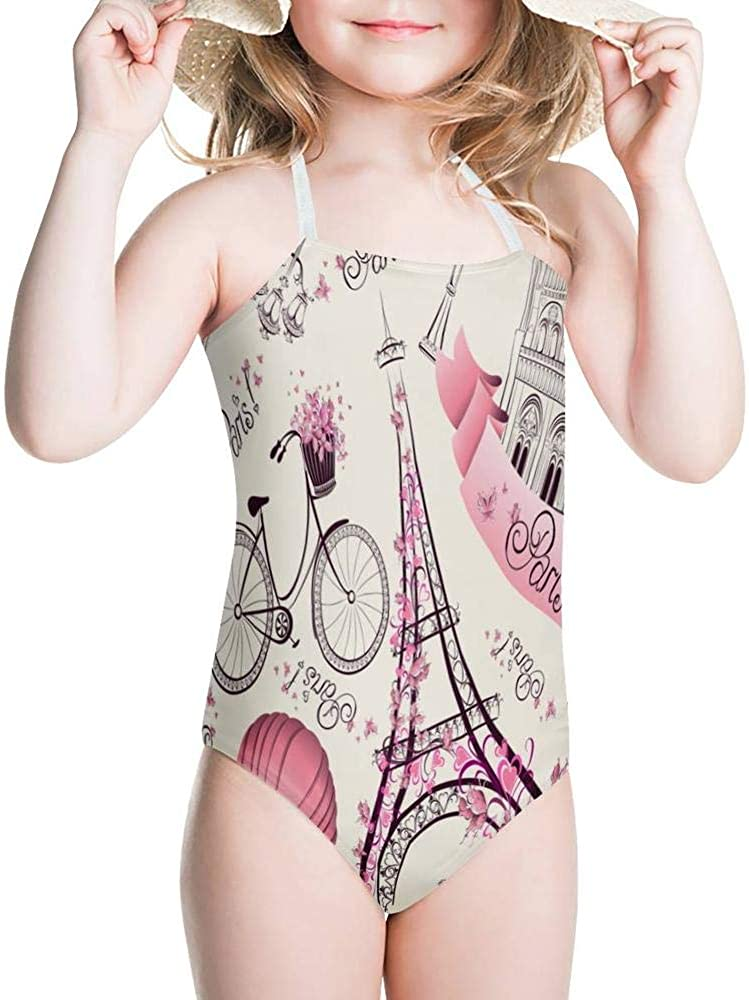 KiuLoam Jamaica Flag Pattern Girls Swimwear One Piece Swimsuits Bathing Suit for 3-8 Years Baby Girl