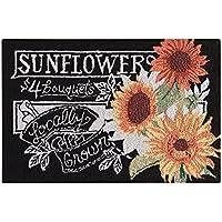 C&F Home Sunflowers Hooked Rug, 2 x 3, Black