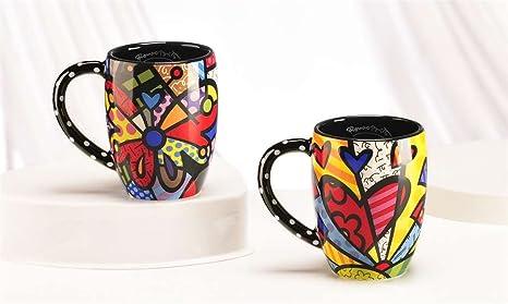 Heart Mug By Romero Britto Insulated Mugs Coffee Cups Mugs