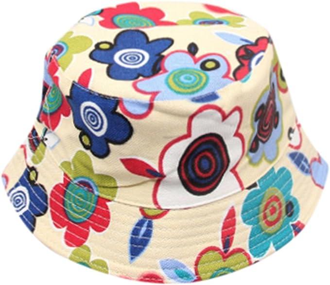 Lonshell _Sombrero Sombrero Sol Bebé Gorras de Patrón de Flores ...