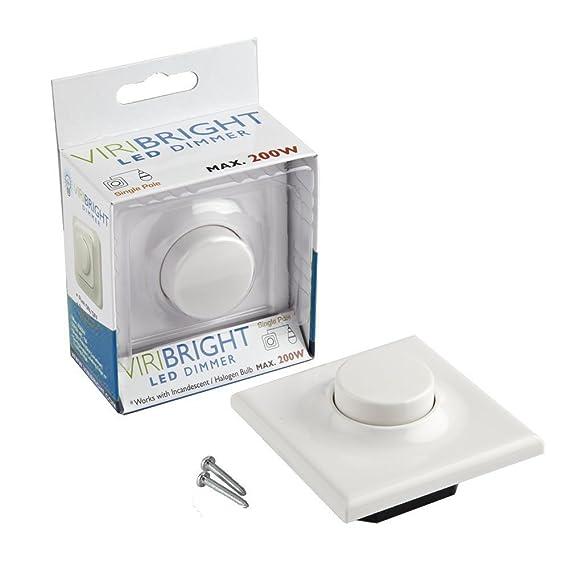 Viribright LED Dimmer 220V AC, 1A, bis 200WATT - stufenloser ...